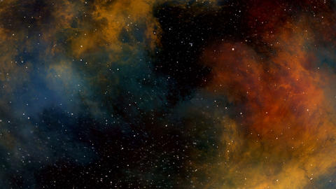 Journey through the Cosmic Clouds of Colorful Nebula Animation