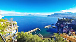 Picturesque view of Sorrento coastline and Gulf of Naples Footage