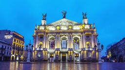 Lviv National Academic Theater of Opera and Ballet, Ukraine Footage