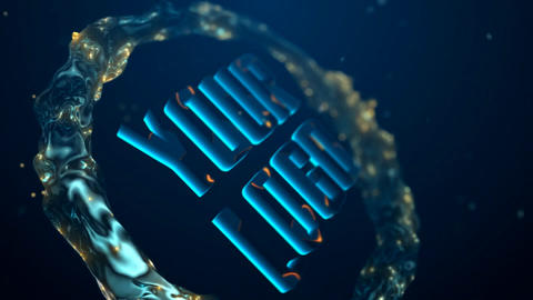 The Water Ring Logo Opener After Effects Template