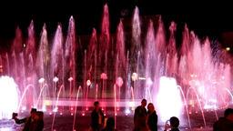 Dancing water fountain show in Kyiv, Ukraine Archivo