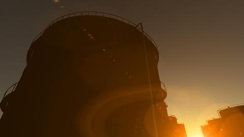 Oil storage tanks time lapse Stock Video Footage