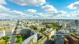 Aerial view of Berlin center, Germany ビデオ