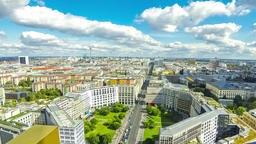 Aerial view of Berlin center, Germany Footage