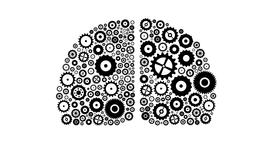 Brain Concept Of Cogs And Gears Spinning Animation