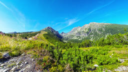 Picturesque summer view of High Tatras mountains, Slovakia Footage