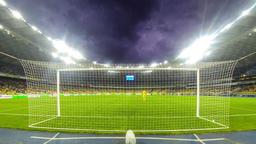 Ukrainian Premier League game FC Dynamo Kyiv v Zorya Footage
