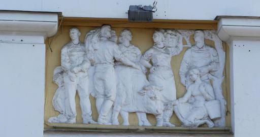 Allegorical bas-relief fertility Footage