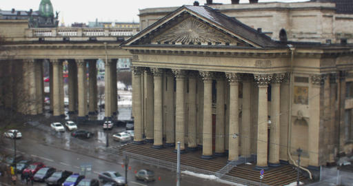 eye of the Almighty on the portico Kazan Cathedral Footage