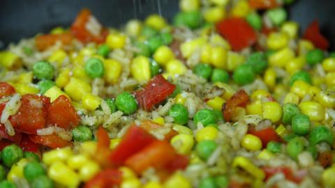 Salt the vegetable mixture Footage