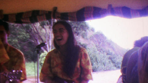 1964: Hawaiian tour boat music entertainment native singers performers Footage