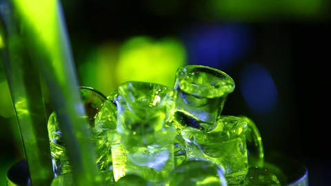 Ice cubes in the pub Footage