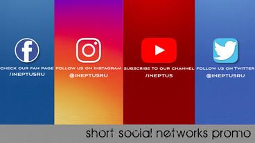 Short Social Networks Promo Apple Motion Template