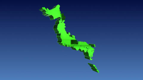 Japanese archipelago 3D rotation Image