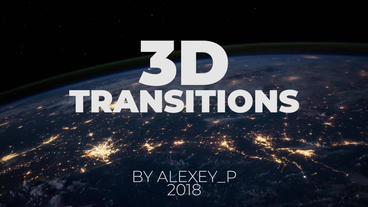 3D Transitions Premiere Proテンプレート