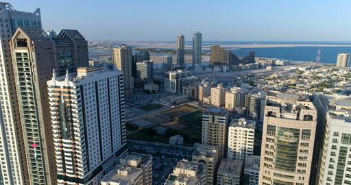 Skyscrapers of the big city. Sharjah. United Arab Emirates Footage