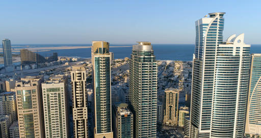 Panorama of the city of Sharjah. United Arab Emirates Footage