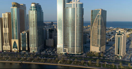 View of Sharjah early in the morning Footage