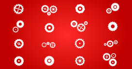 Cogs And Gears Spinning Icons Animation