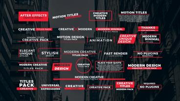 30 Modern Titles Motion Graphics Template