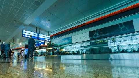 Airport international terminal timelapse ビデオ