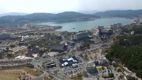 Big Korean Style Watermill of Bomun Park at Gyeongju 08 Footage