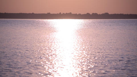 Sun path or way of light on water surface Footage