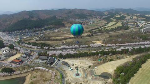 Hot Air Ballon at Bomun Park at Gyeongju 02 Footage