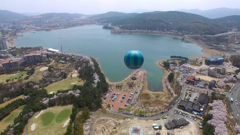 Hot Air Ballon at Bomun Park at Gyeongju 04 Footage
