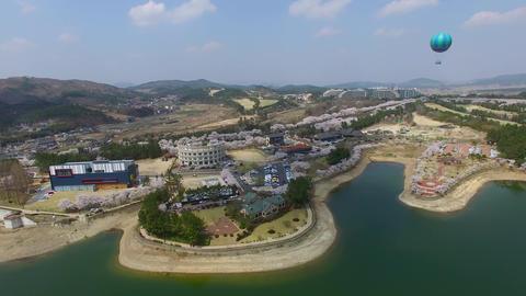 Hot Air Ballon at Bomun Park at Gyeongju 06 Footage