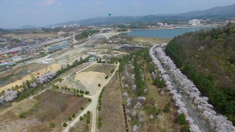 Hot Air Ballon at Bomun Park at Gyeongju 08 Footage