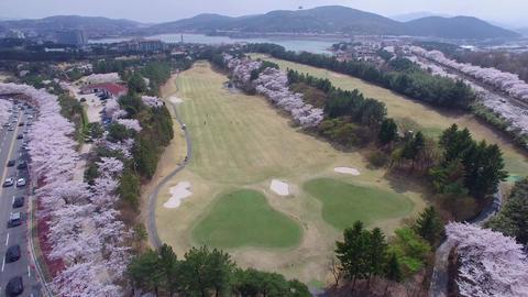 Hot Air Ballon at Bomun Park at Gyeongju 10 Footage