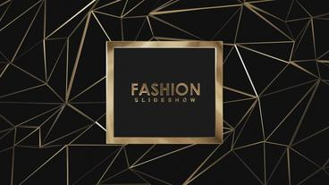 Gold Fashion Slideshow After Effects Template