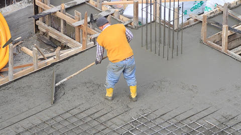 Concrete flatwork finisher using a glider trowel. Specialty commercial or Footage