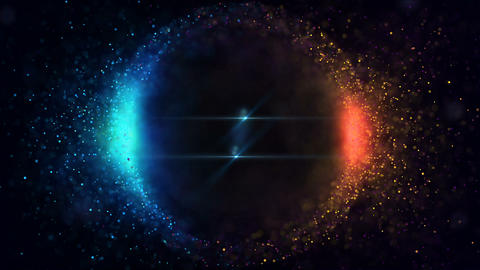 Sphere Bright Particles Animation