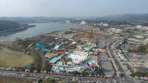 Spring of Bomun Park at Gyeongju 05 Footage