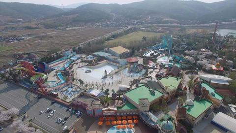 Spring of Bomun Park at Gyeongju 09 Footage