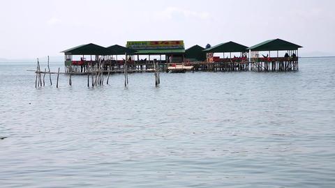 Restaurants over Water Footage