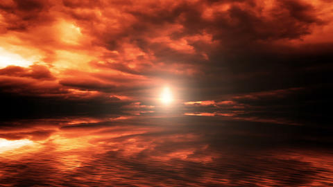 Sun and dramatic clouds Animation