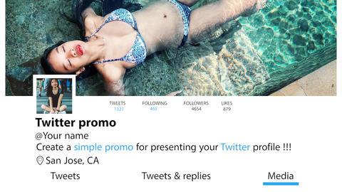 Twitter promo Premiere Proテンプレート