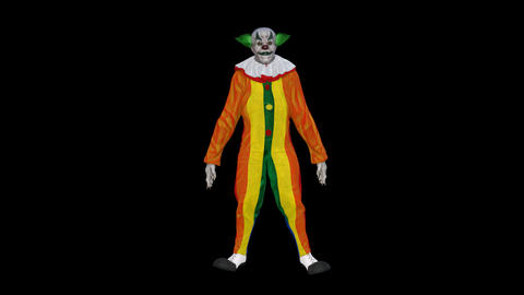The clown bows,loop,animation,transparent background Animation