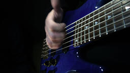 Slap on bass guitar Archivo