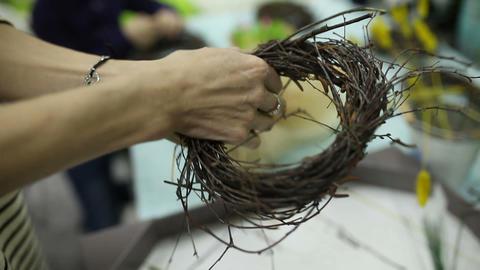 Children make a nest for birds, nest for birds Footage