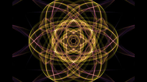 Orange mandala with blurry light effect for energy obtaining, spiritual training Animation