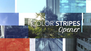 Color Stripes Opener – Apple Motion and Final Cut Pro X Template Apple Motionテンプレート