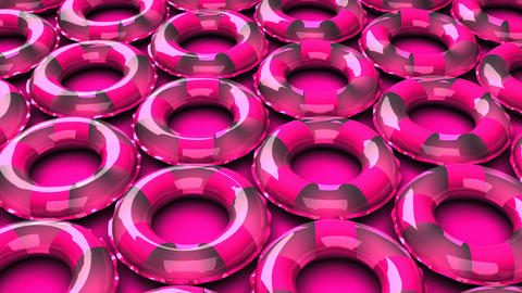 Pink swim rings on pink background CG動画