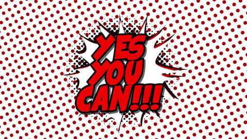 Yes you can - word in speech balloon in comic style animation Animation