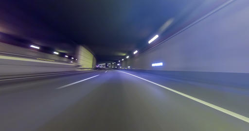 Fast driving for Barcelona.Time Lapse - 4K Footage