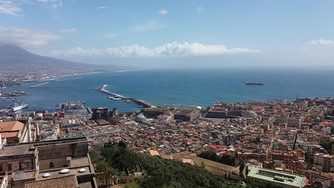 View of Naples (ITALY) Footage