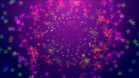 Stars walking around Animation